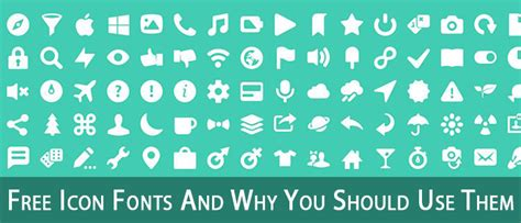 40 free icon fonts and why you should use icon fonts