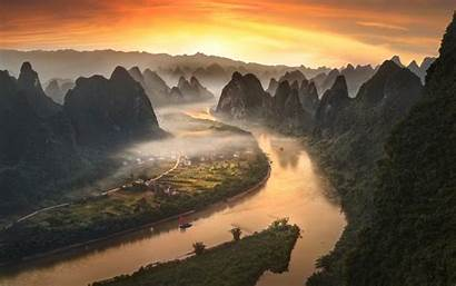 China River Li Yangshuo Landscape Desktop Laptop
