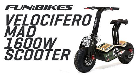 velocifero mad 48 volt 1600w us army camo electric scooter