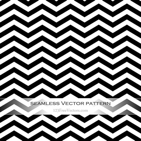 black  white zigzag pattern vector