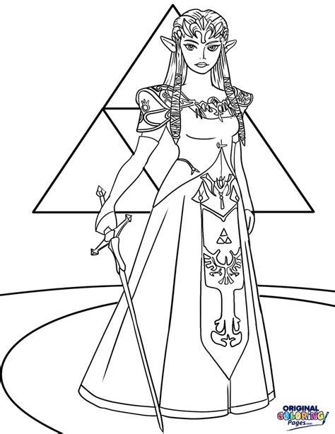 princess zelda coloring pages  getcoloringscom