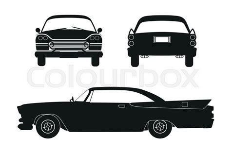 Silhouette Of Retro Car. Vintage ...