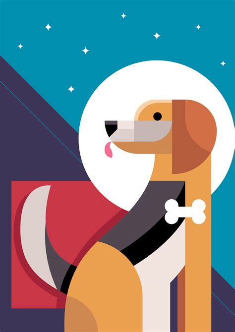 abstract dog vector illustration   vectors