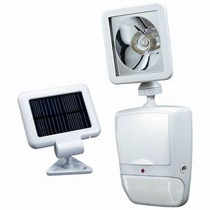 heath zenith 180 degree white motion sensing solar powered With outdoor motion lights at home depot