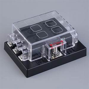 6 Way Circuit Car Atc Ato Blade Fuse Box Block Holder 32v