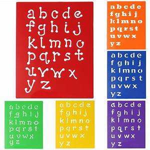 plastic drawing font alphabet stencil letters uppercase With plastic abc letters