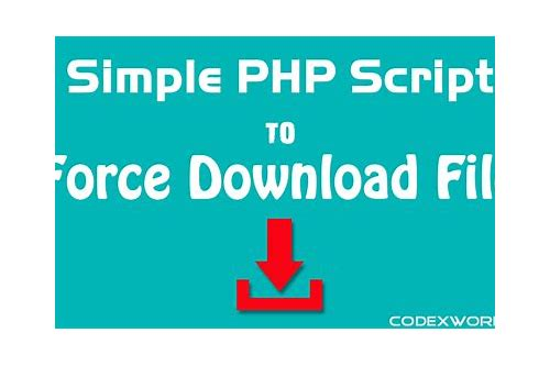 php force download of text file
