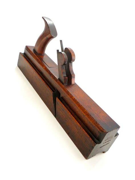 rare watsons leeds handled twin iron stick  rebate plane essential woodworking tools