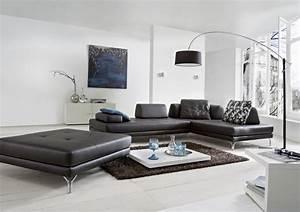 Canapé 4 Places Cuir : canap d angle modulable 4 places elements en cuir ~ Teatrodelosmanantiales.com Idées de Décoration