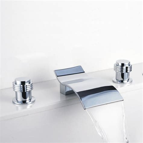 faucet for sink in bathroom contemporary waterfall bathroom sink faucet chrome finish