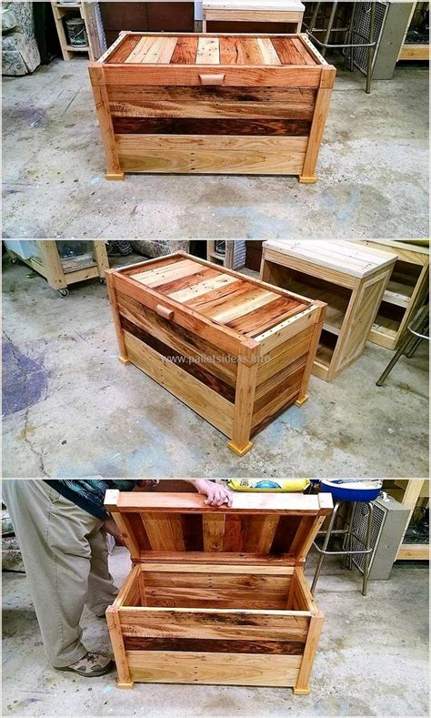 wood pallet chest diy ideas diy motive