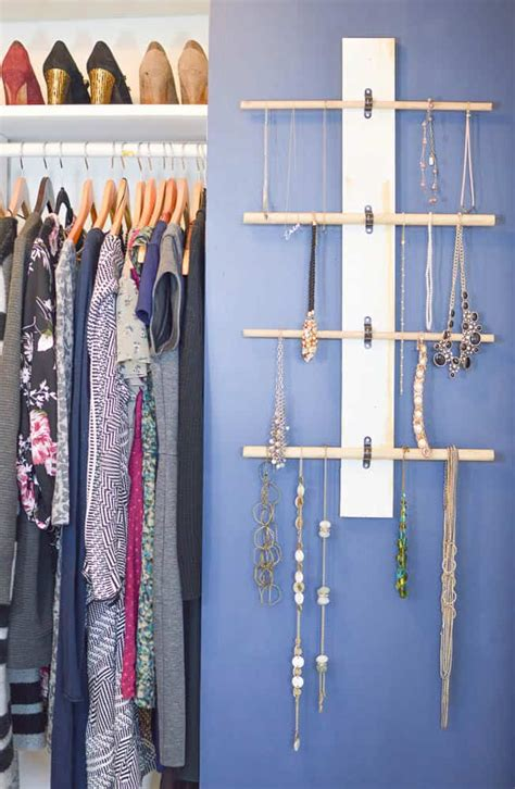 hanging necklace organizer diy passion