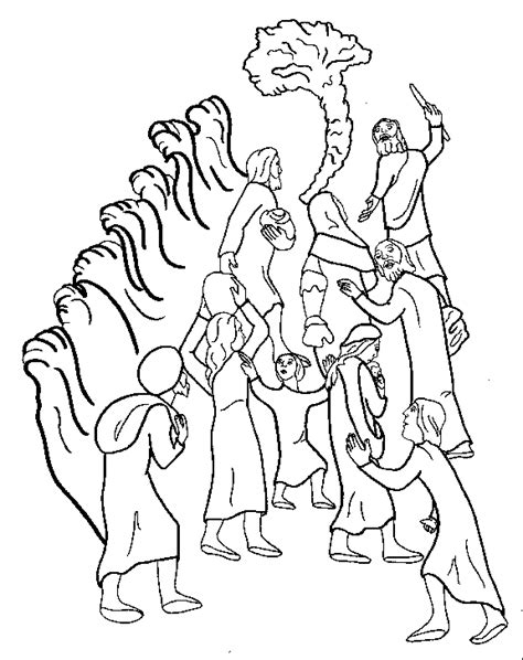Coloring Exles by The Moses Leading Israelites Out Of Clip Cliparts