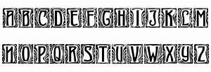 Art-Nouveau Initial Font