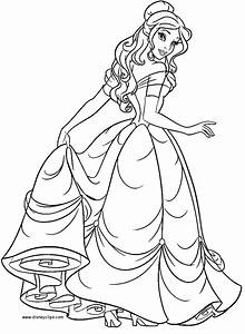 Belle Coloring Pages 2017