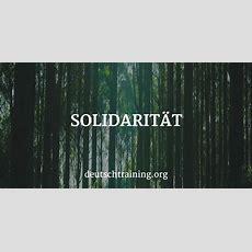 Solidarität  Deutscher Wortschatz  Vokabeln Lernen