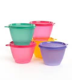 kitchen canisters set buy tupperware bowled multicolor conical shape