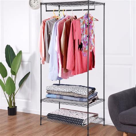 giantex  tier clothing garment rack hanger shelving wire