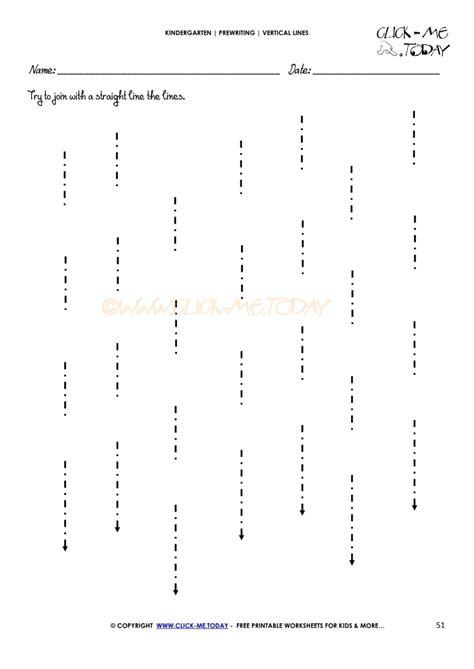 vertical lines worksheet