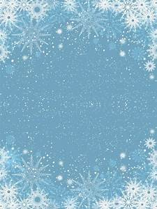 Snowflakes on light blue background Vector | Free Download