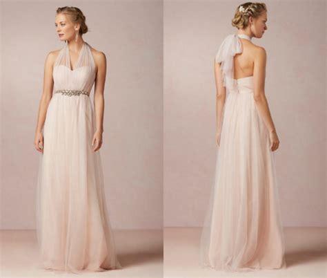 Blush Bridesmaid Dresses   Rustic Wedding Chic
