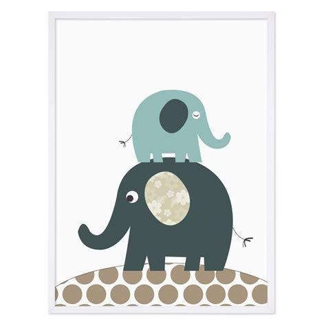 Kinderzimmer Mädchen Poster by Kinder Poster Elefanten 30x40 Cm Kinderzimmer Poster