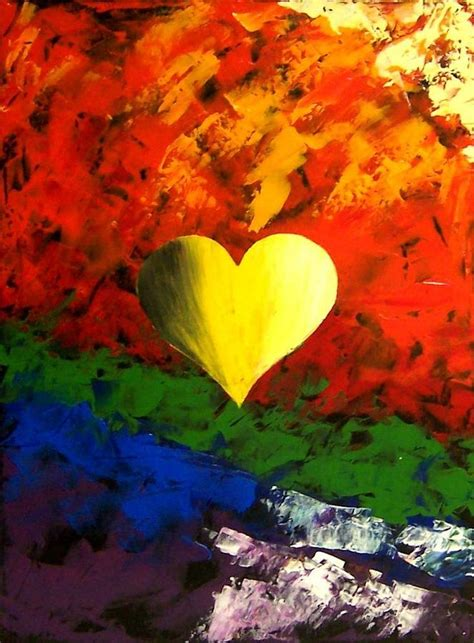 colorful heart love painting painting  teo alfonso