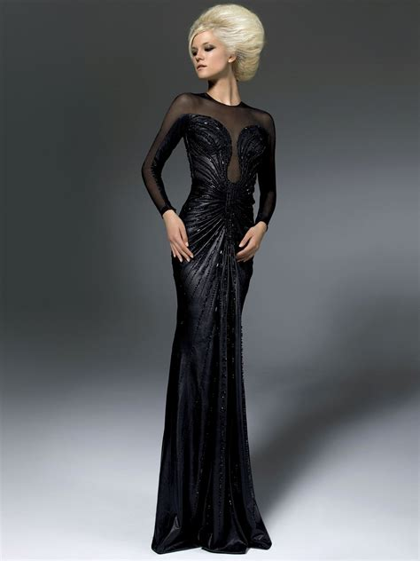 dress black versace versace fall winter ready to wear collection 2012 womans