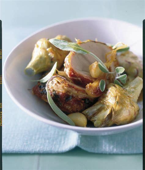 sauge cuisine filet mignon et artichauts rôtis à la sauge pour 4