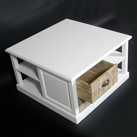tabouret d ilot de cuisine table basse bois massif blanche 4 tiroirs made in meubles