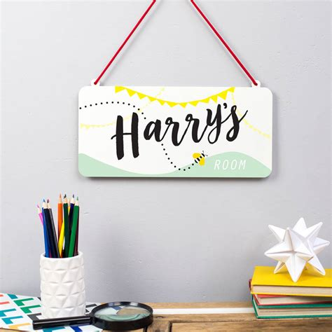 personalised childs bedroom sign  delightful living