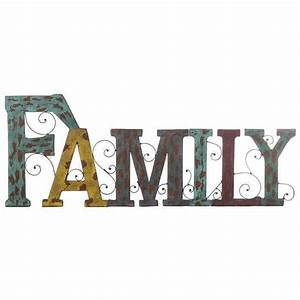 rustic family letters metal wall art country farmhouse With family letters wall decor
