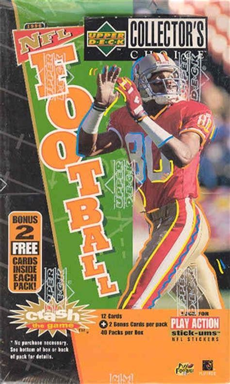 deck collectors choice 1996 1996 deck collector s choice football hobby box da