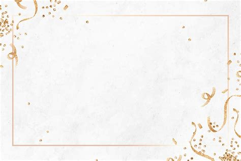 Download premium vector of Festive gold frame template