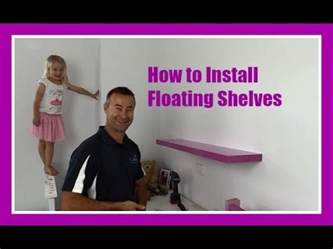 How To Hang Floating Shelves On A Plasterboard Wall Youtube