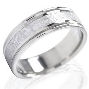 meteorite wedding band lashbrook titanium with meteorite inlay wedding band