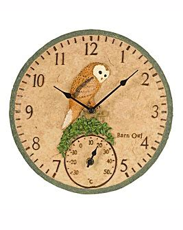 outdoor wall clock and thermometer wall clocks marisota 7248