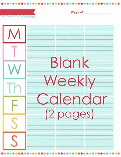 Weekly Calendar Planner Blank Editable Spread Daily