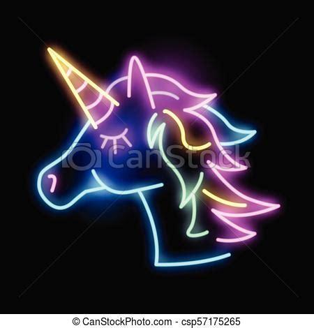 colourful neon unicorn light sign cute glowing neon