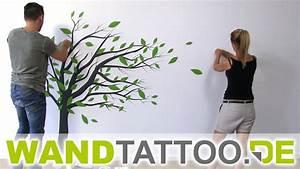 Baum An Wand Malen : wandtattoo baum im wind anleitung zum anbringen youtube ~ Frokenaadalensverden.com Haus und Dekorationen