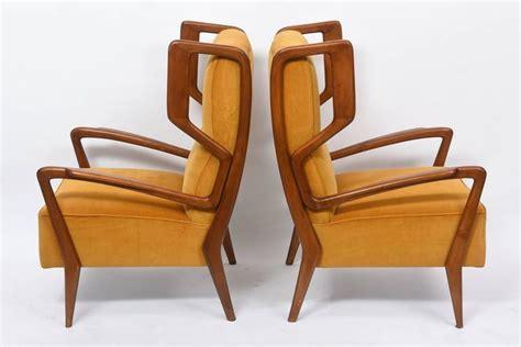 Rare Pair Of Italian Modern Walnut Armchairs, Orlando