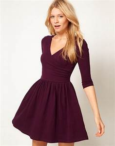 asos collection asos skater dress with ballet wrap and 34 With robe forme patineuse