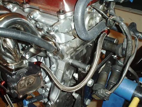 installing circuit sports s13 sr20det turbo lines rear coolant line zilvia net forums