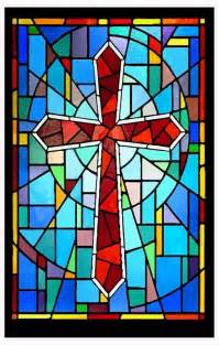 Cross Stained Glass Window Film