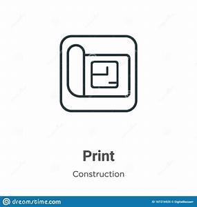 Blueprint, Outline, Vector, Icon, Thin, Line, Black, Blueprint, Icon, Flat, Vector, Simple, Element