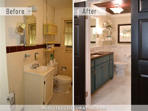Before And After Small Bathrooms by Hallway Bathroom Remodel Before After Addicted 2