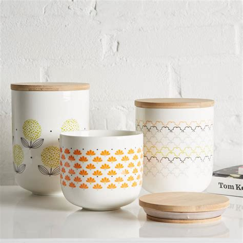 vintage ceramic kitchen canisters retro scandinavian ceramic canisters by uniquely eclectic