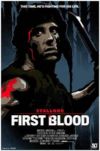 30th anniversary FIRST BLOOD poster | Signalnoise.com