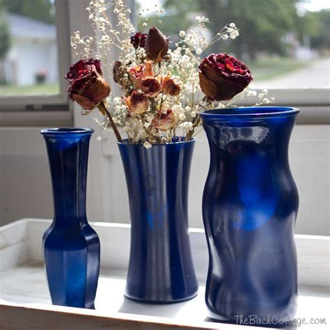 Painting A Glass Vase by Diy Spray Painted Glass Vases Tutorial Kenarry