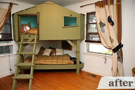Small Computer Desk Ikea Canada by Tree House Bunk Beds Kid S Room Pinterest
